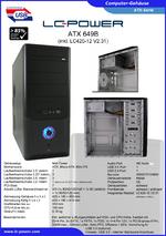 Datenblatt ATX-Gehäuse 649B mit Netzteil LC420-12