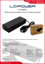 Datasheet ITX power supply unit LC120ITX