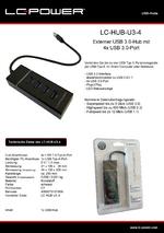 Datenblatt USB-Hub LC-HUB-U3-4