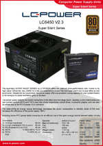 Datasheet ATX power supply unit LC6450 V2.3