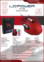 Datenblatt PC-Maus m715R