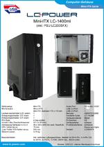 Datenblatt Mini-ITX-Gehäuse LC-1400mi