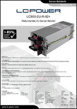 Datenblatt Server-Netzteil LC800-2U-R-92+