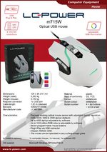 Datasheet PC mouse m715W