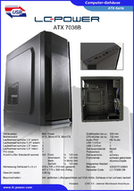 Datenblatt ATX-Gehäuse 7036B