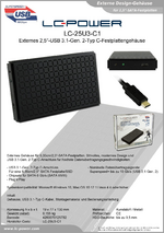 "Datenblatt 2,5""-Festplattengehäuse LC-25U3-C1"