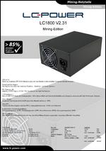 Datenblatt Mining-Netzteil LC1800 V2.31