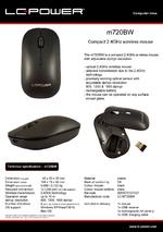 Datasheet PC mouse m720BW