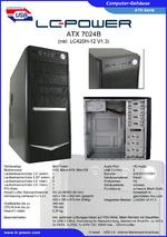 Datenblatt ATX-Gehäuse 7024B mit Netzteil LC420H-12