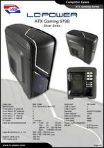 Datasheet ATX case Gaming 979B Silver Strike