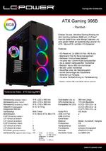 Datenblatt ATX-Gehäuse Gaming 998B Rambot