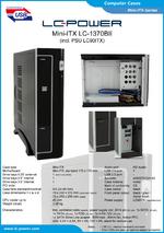 Datasheet Mini-ITX case LC-1370BII