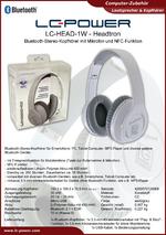 Datenblatt Kopfhörer LC-HEAD-1W