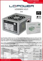 Datenblatt SFX-Netzteil LC300SFX V3.21