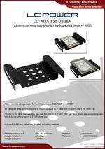 Datasheet HDD adapter LC-ADA-525-2535A