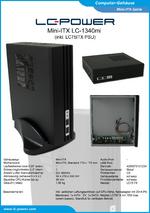 Datenblatt Mini-ITX-Gehäuse LC-1340mi