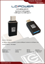 Datasheet USB adapter LC-ADA-U31C