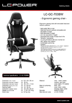 Datasheet gaming chair LC-GC-703BW
