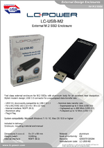 Datasheet m.2 enclosure LC-USB-M2