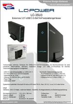 "Datenblatt 3,5""-Festplattengehäuse LC-35U3"