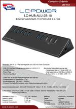 Datenblatt USB-Hub LC-HUB-ALU-2B-10