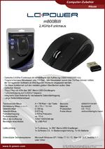 Datenblatt PC-Funkmaus m800BW