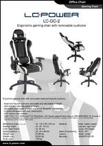 Datasheet gaming chair LC-GC-2