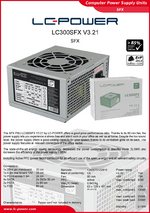 Datasheet SFX power supply unit LC300SFX V3.21
