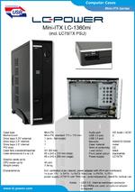 Datasheet Mini-ITX case LC-1360mi
