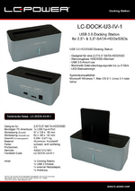 Datenblatt Docking Station LC-DOCK-U3-IV-1