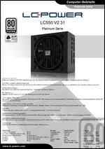 Datenblatt ATX-Netzteil LC550 V2.31 Platinum