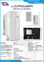 Datenblatt Mini-ITX-Gehäuse LC-1403Wmi