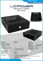 Datasheet Mini-ITX case LC-1520mi