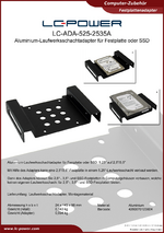 Datenblatt Festplattenadapter LC-ADA-525-2535A