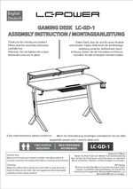 Manual gaming desk LC-GD-1R & LC-GD-1W