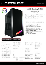 Datasheet ATX case Gaming 707B Strike_Force_X