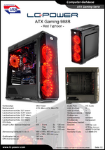 Datenblatt ATX-Gehäuse Gaming 988B Red Typhoon