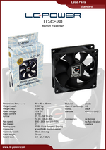 Datasheet 80 mm case fan LC-CF-80