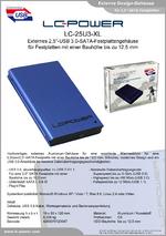 "Datenblatt 2,5""-Festplattengehäuse LC-25U3-XL"