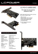 Datenblatt PCI-Karte LC-PCI-C-USB32-2X2