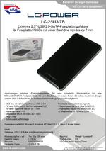 "Datenblatt 2,5""-Festplattengehäuse LC-25U3-7B"