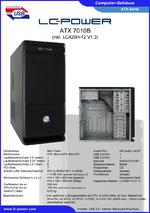Datenblatt ATX-Gehäuse 7010B mit Netzteil LC420H-12