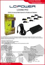 Datenblatt Notebook-Netzteil LC65NB-PRO