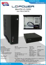Datasheet Mini-ITX case LC-1320II