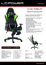 Datasheet gaming chair LC-GC-702BG-FF
