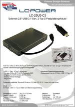 "Datenblatt 2,5""-Festplattengehäuse LC-25U3-C3"