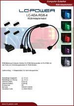 Datenblatt Adapterkabel LC-ADA-RGB-4