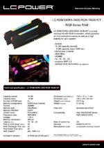 Datasheet RAM LC-RAM-DDR4-3600-RGB-16GB-KIT