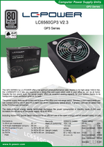 Datasheet ATX power supply unit LC6560GP3 V2.3