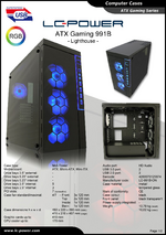 Datasheet ATX case Gaming 991B Lighthouse